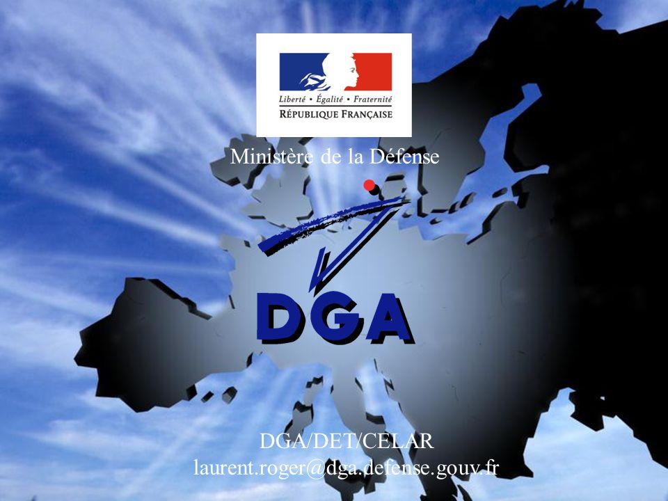 DGA/DET/CELAR laurent.roger@dga.defense.gouv.fr
