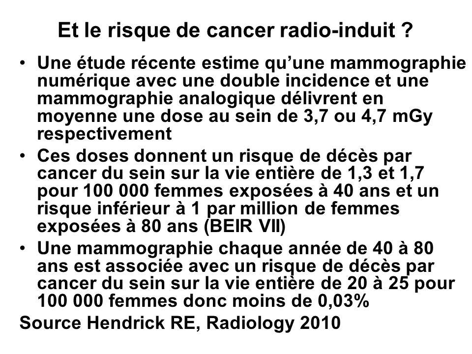 Et le risque de cancer radio-induit