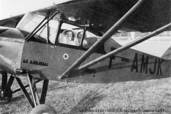 Le Potez 43 de l'Aéro-club de Djidjelli (Gabriel Andrès)