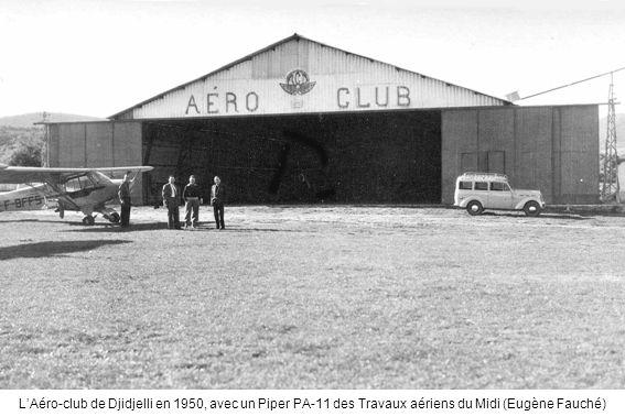 L'Aéro-club de Djidjelli en 1950, avec un Piper PA-11 des Travaux aériens du Midi (Eugène Fauché)