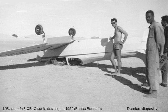 L'Emeraude F-OBLO sur le dos en juin 1959 (Renée Bonnafé)