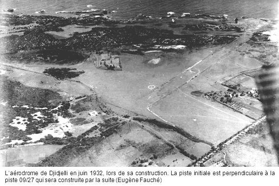 L'aérodrome de Djidjelli en juin 1932, lors de sa construction