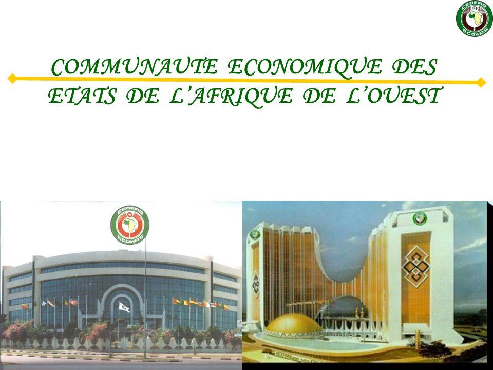 COMMUNAUTE ECONOMIQUE DES ETATS DE L'AFRIQUE DE L'OUEST