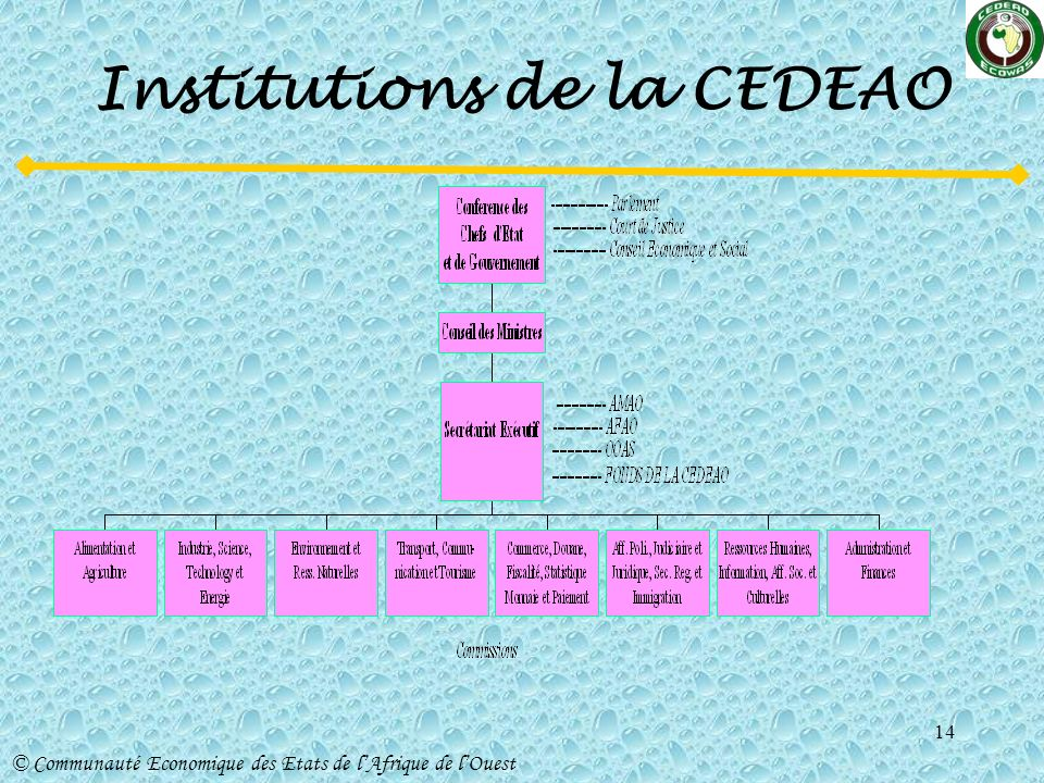 Institutions de la CEDEAO