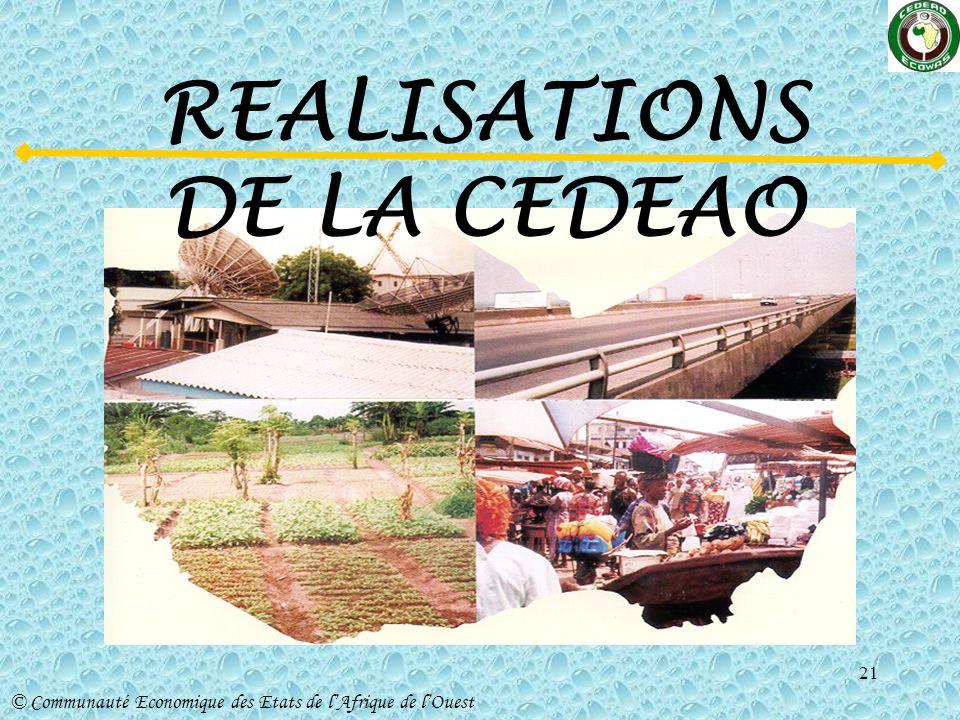 REALISATIONS DE LA CEDEAO
