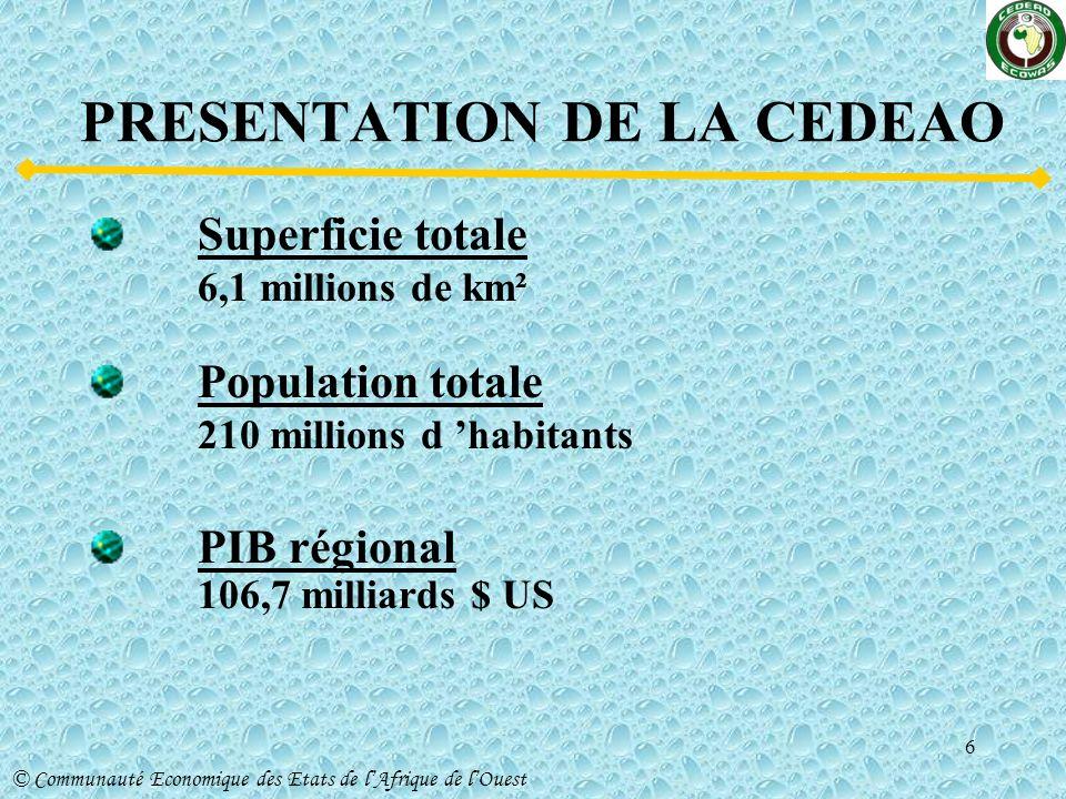 PRESENTATION DE LA CEDEAO