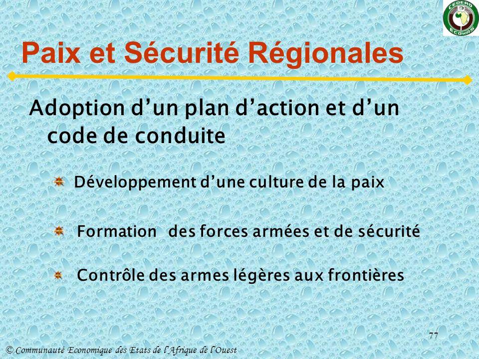 Paix et Sécurité Régionales