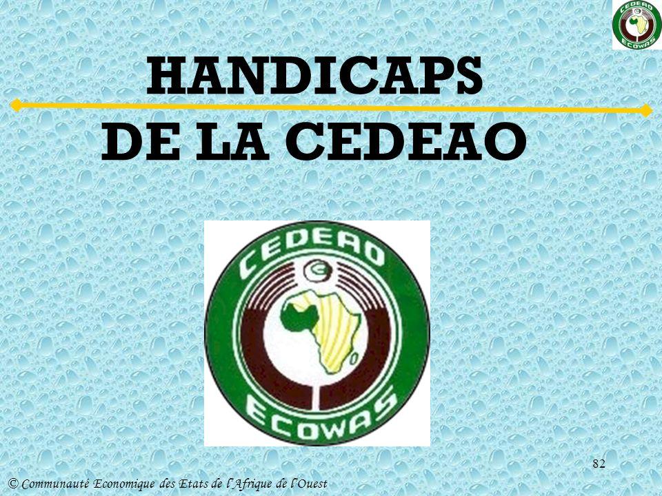 HANDICAPS DE LA CEDEAO