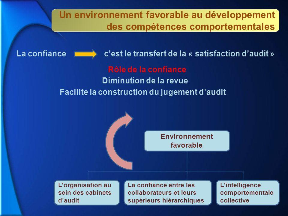 Facilite la construction du jugement d'audit Environnement favorable