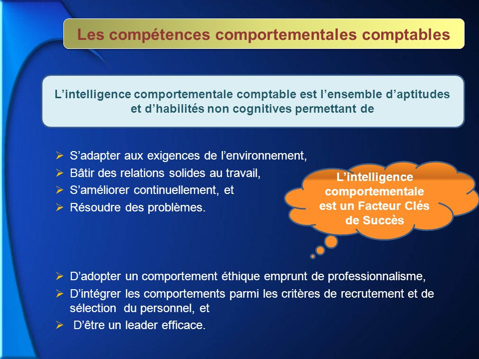 Les compétences comportementales comptables
