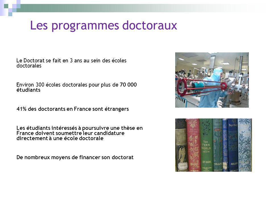 Les programmes doctoraux