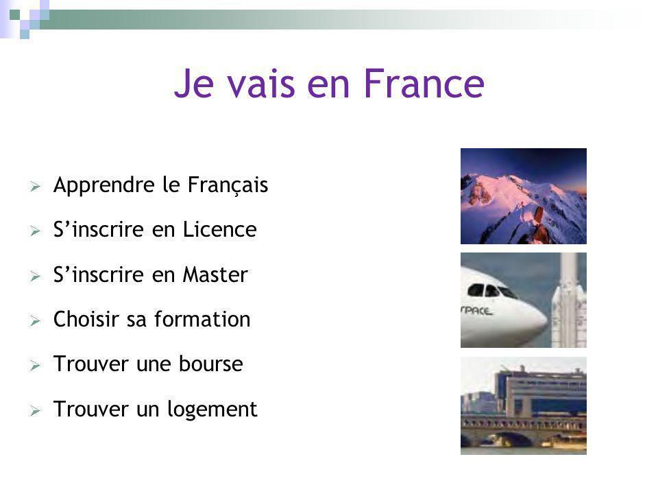 Je vais en France Apprendre le Français S'inscrire en Licence