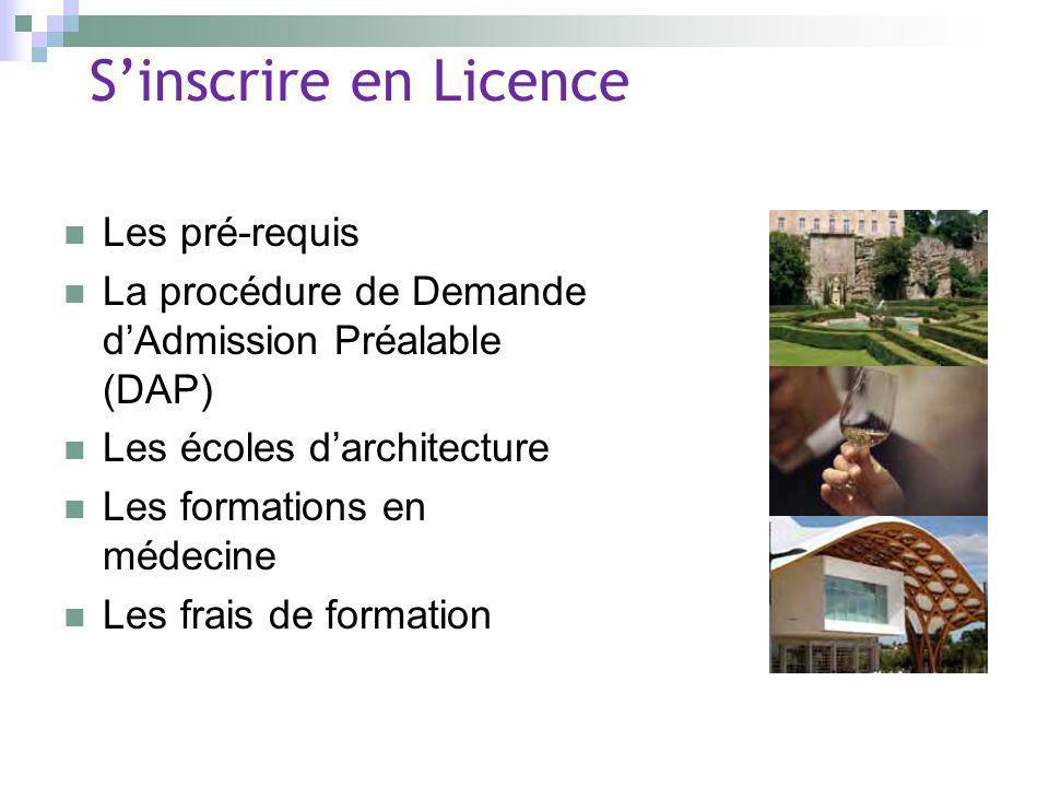 S'inscrire en Licence Les pré-requis