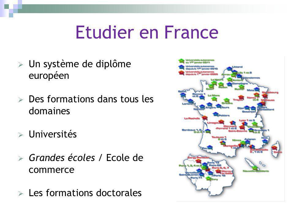 Etudier en France Un système de diplôme européen