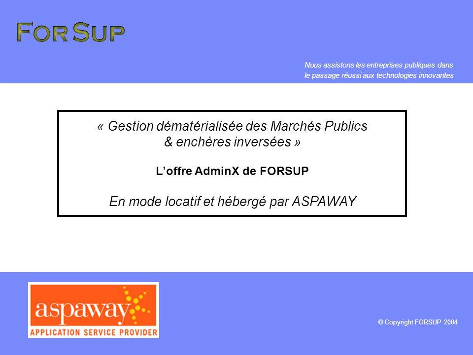 L'offre AdminX de FORSUP