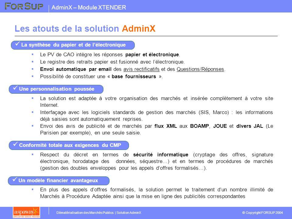Les atouts de la solution AdminX