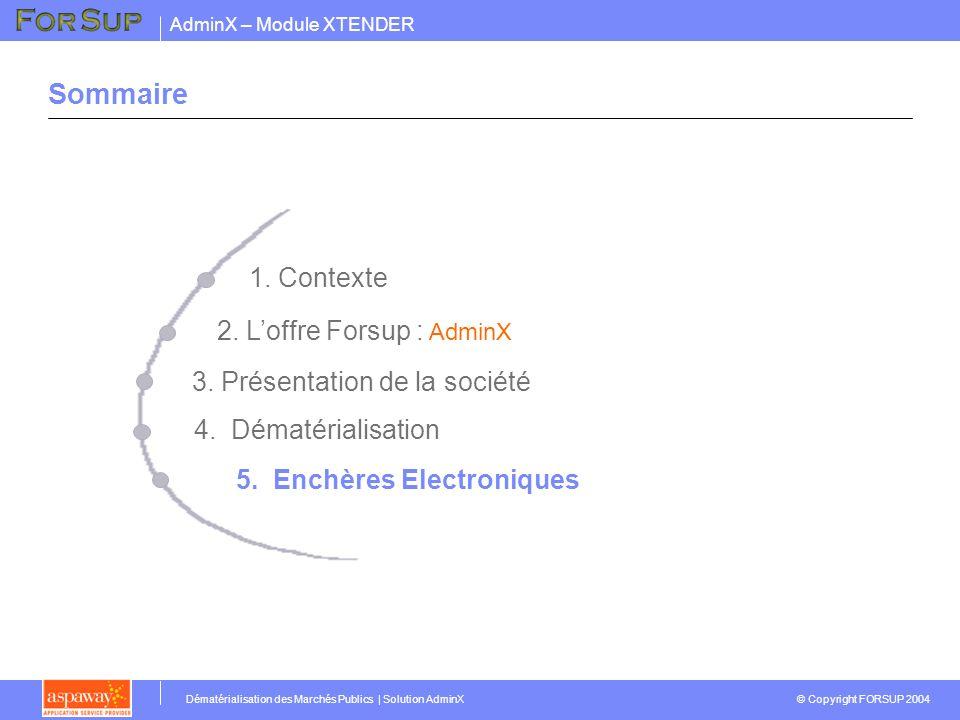 Sommaire 1. Contexte 2. L'offre Forsup : AdminX