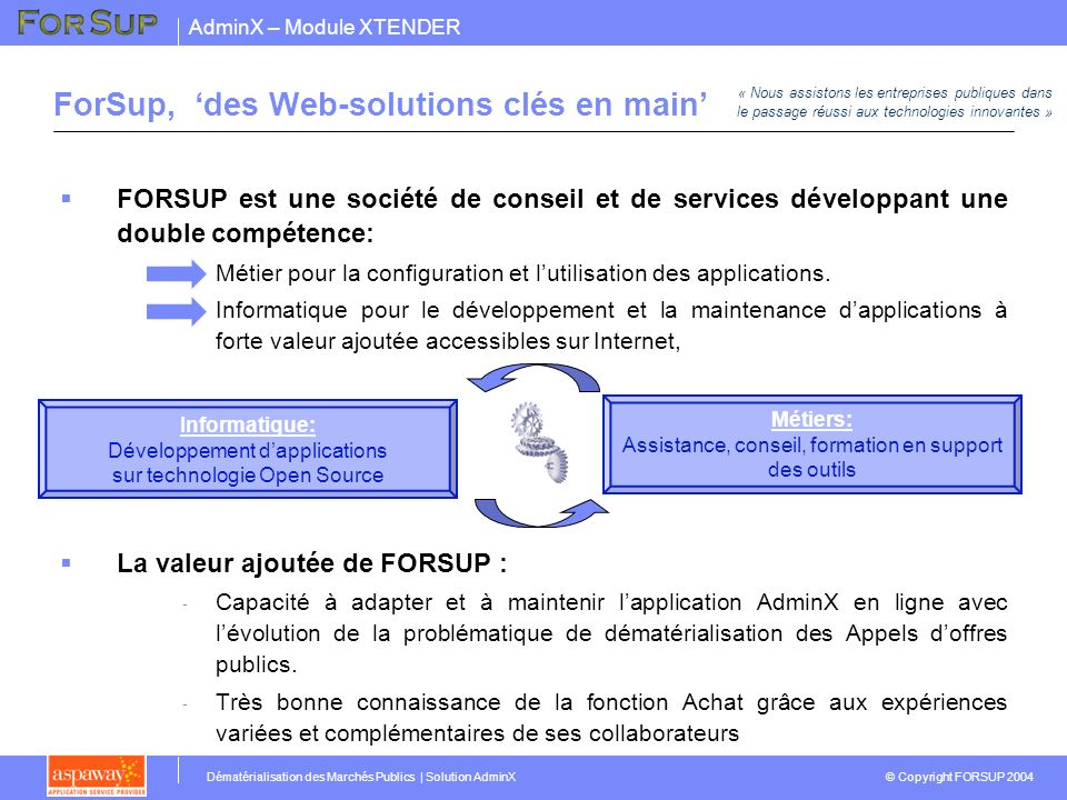ForSup, 'des Web-solutions clés en main'