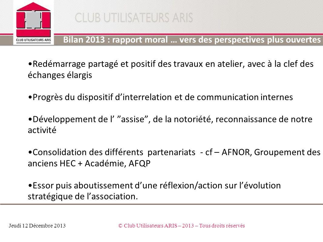 © Club Utilisateurs ARIS – 2013 – Tous droits réservés