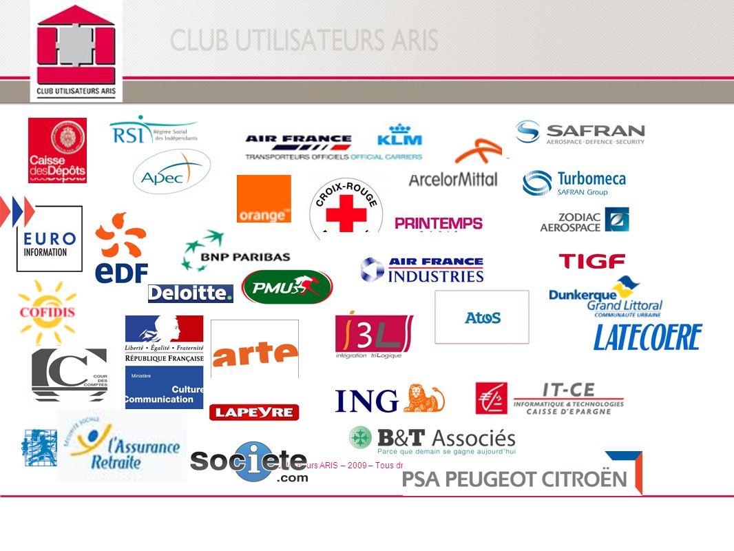 © Club Utilisateurs ARIS – 2009 – Tous droits réservés
