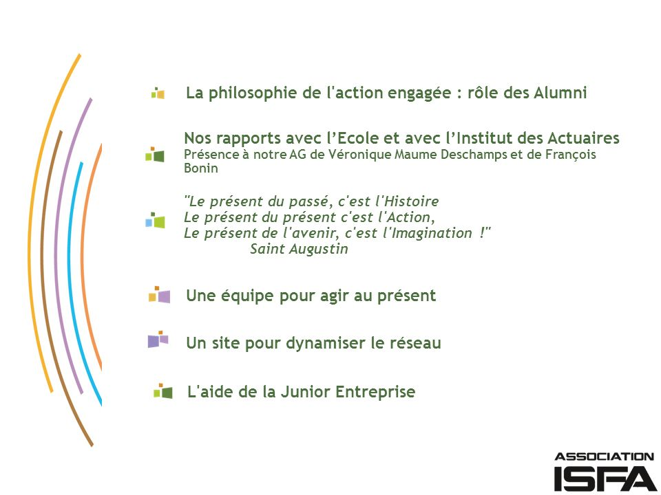 La philosophie de l action engagée : rôle des Alumni