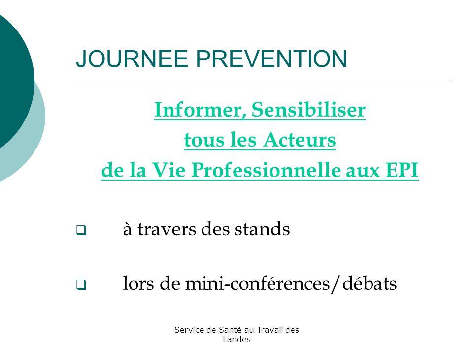 Informer, Sensibiliser de la Vie Professionnelle aux EPI