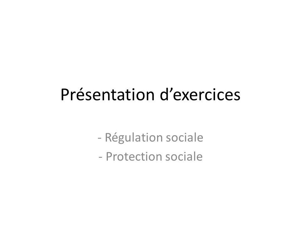 Présentation d'exercices