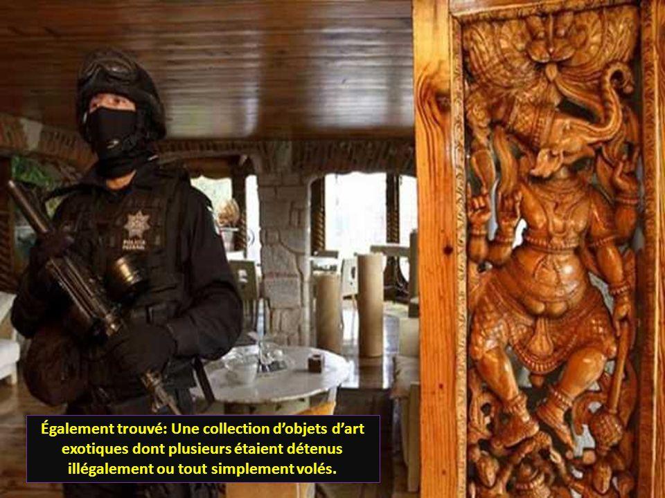 Également trouvé: Une collection d'objets d'art exotiques dont plusieurs étaient détenus illégalement ou tout simplement volés.
