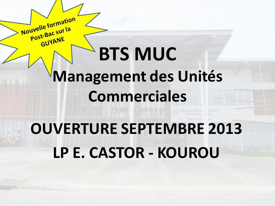 BTS MUC Management des Unités Commerciales