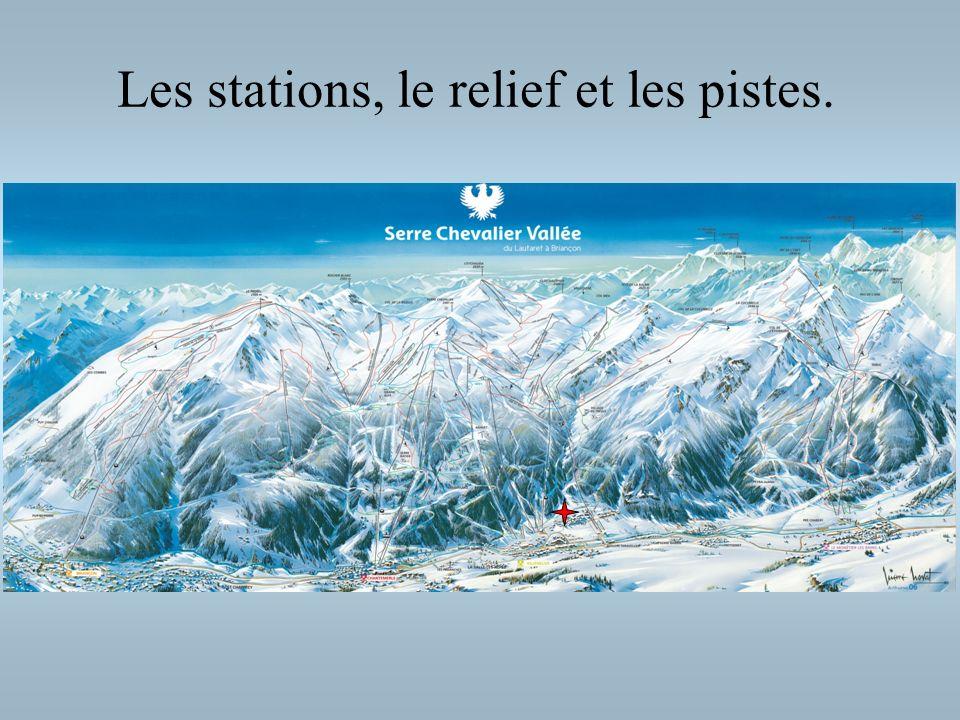 Les stations, le relief et les pistes.