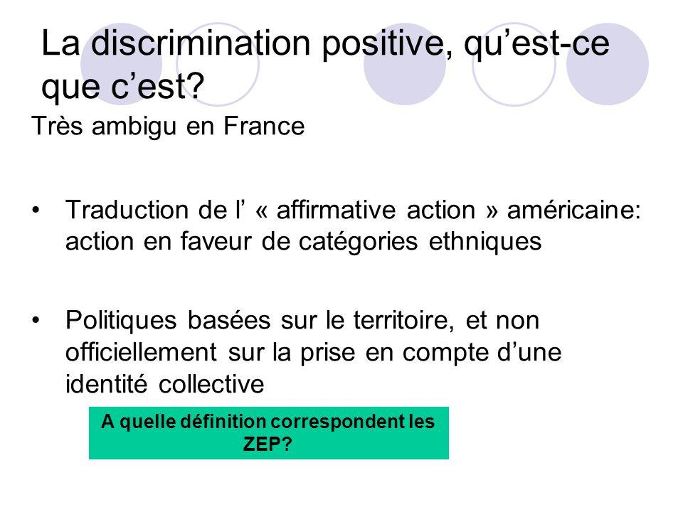 La discrimination positive, qu'est-ce que c'est