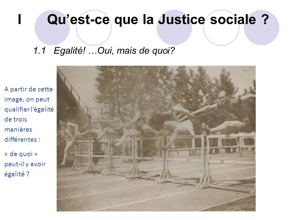 I Qu'est-ce que la Justice sociale