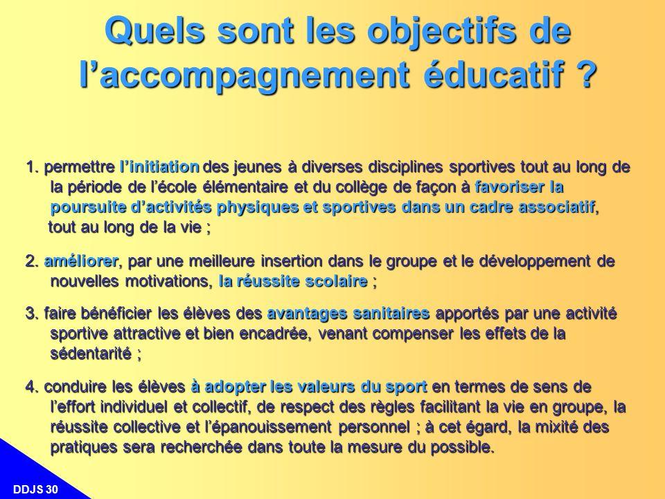 Quels sont les objectifs de l'accompagnement éducatif