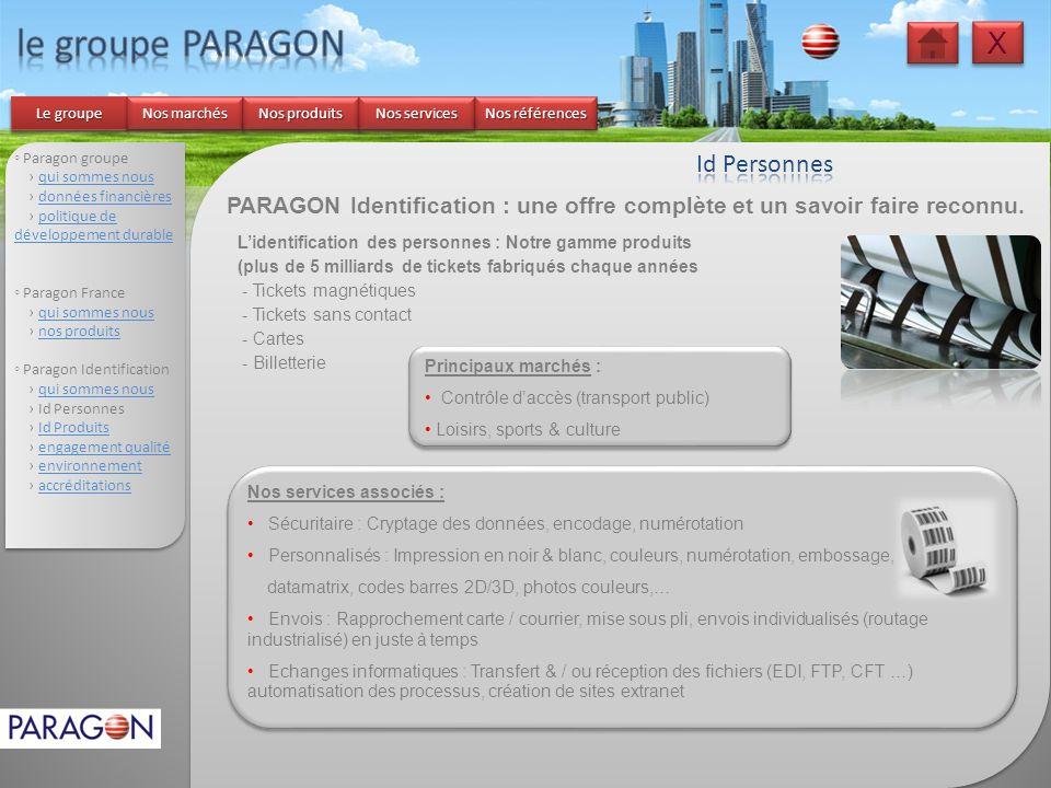 le groupe PARAGON X Id Personnes