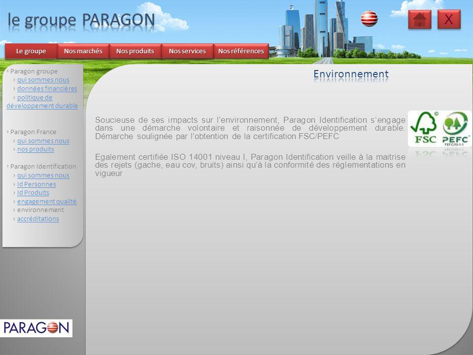 le groupe PARAGON X Environnement