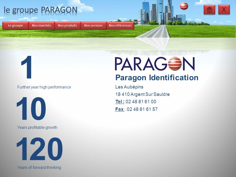 1 1 1 20 le groupe PARAGON Paragon Identification X Les Aubépins