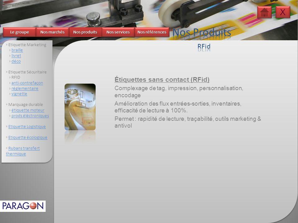 Nos Produits X RFid Étiquettes sans contact (RFid)
