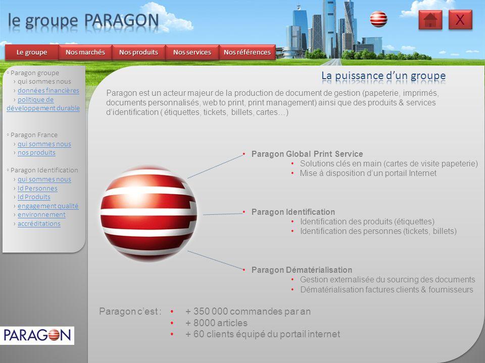 le groupe PARAGON X La puissance d'un groupe Paragon c'est :