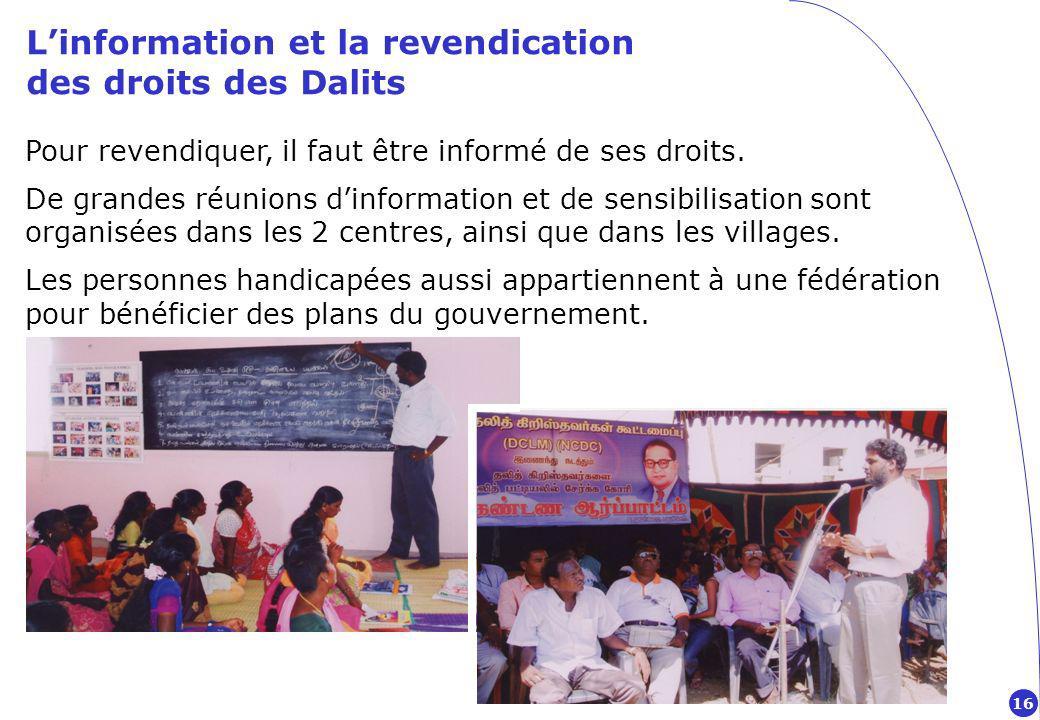 L'information et la revendication des droits des Dalits
