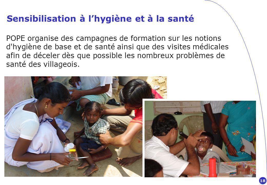 Sensibilisation à l'hygiène et à la santé