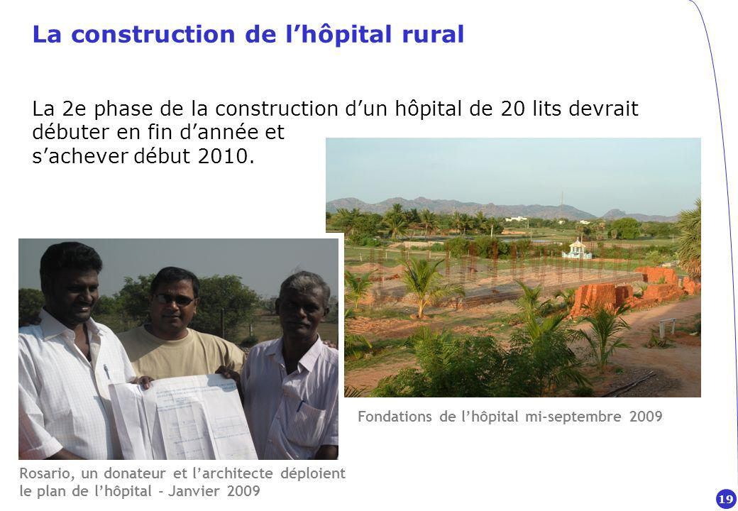 La construction de l'hôpital rural