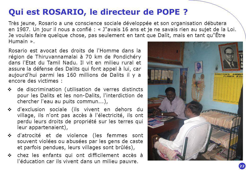 Qui est ROSARIO, le directeur de POPE