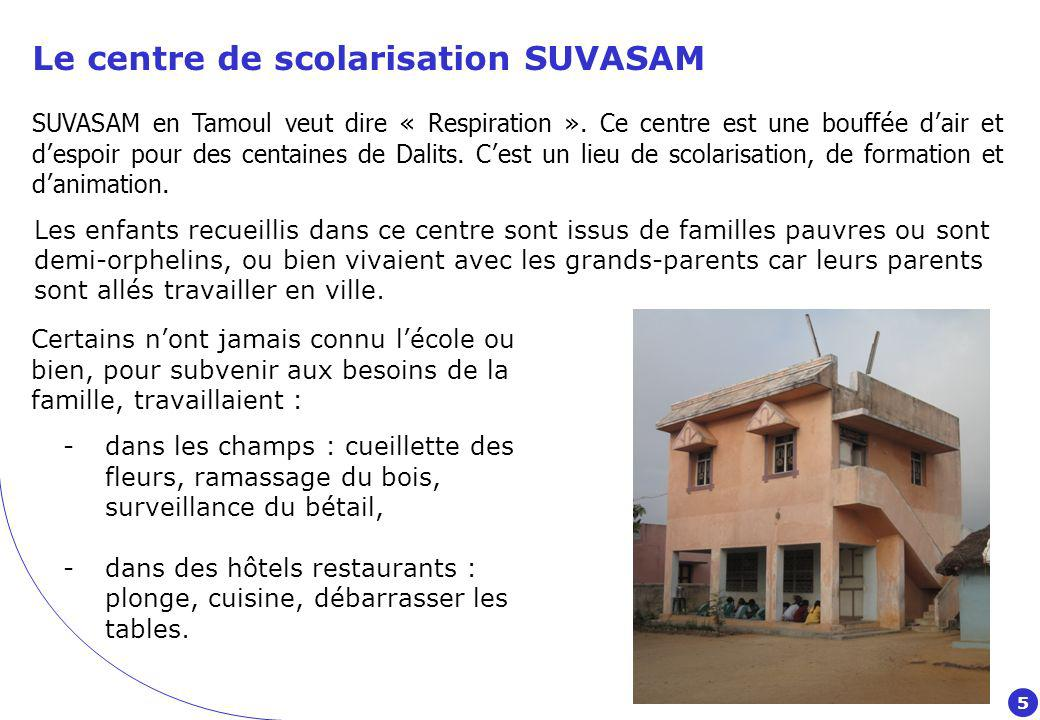 Le centre de scolarisation SUVASAM