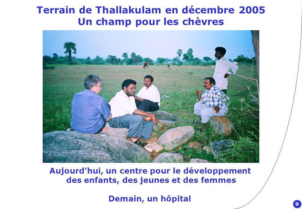 Terrain de Thallakulam en décembre 2005 Un champ pour les chèvres
