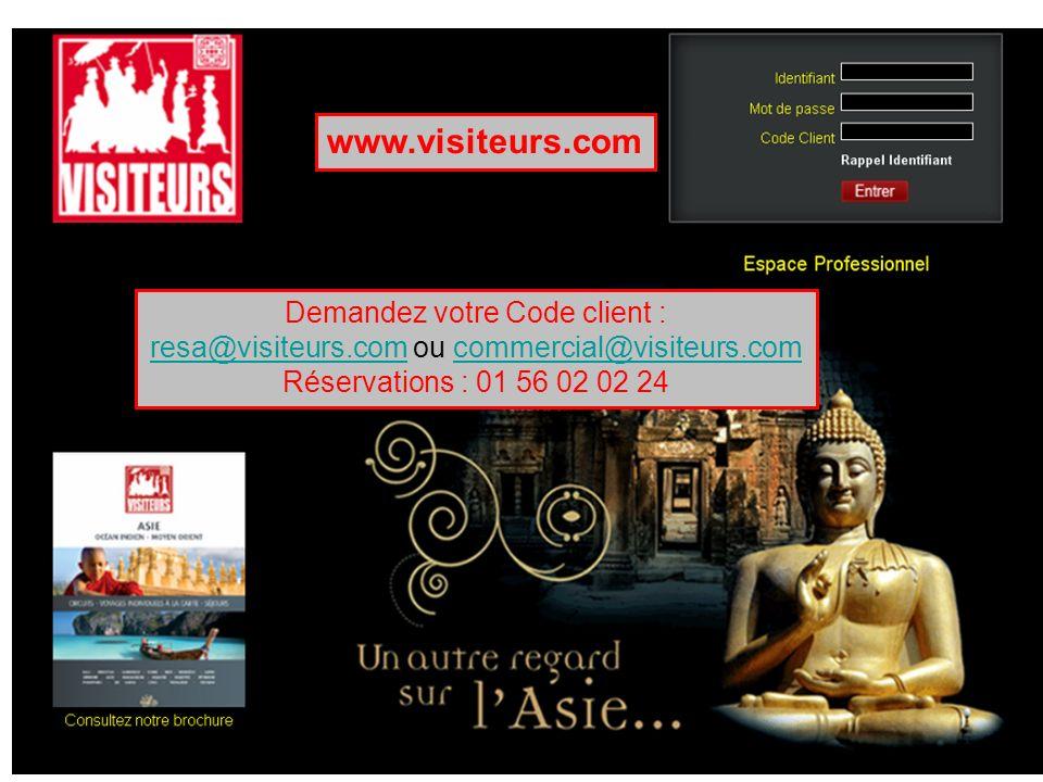 www.visiteurs.com Demandez votre Code client :