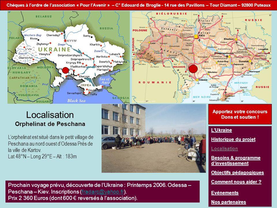 Localisation Orphelinat de Peschana