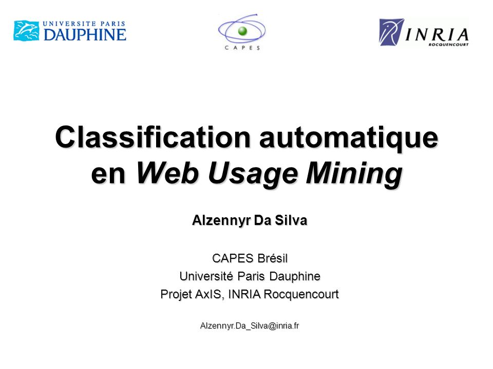 Classification automatique en Web Usage Mining