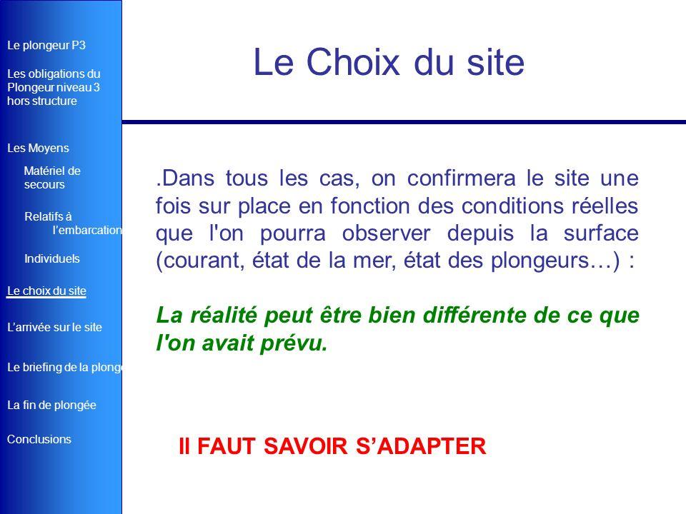 Le Choix du site