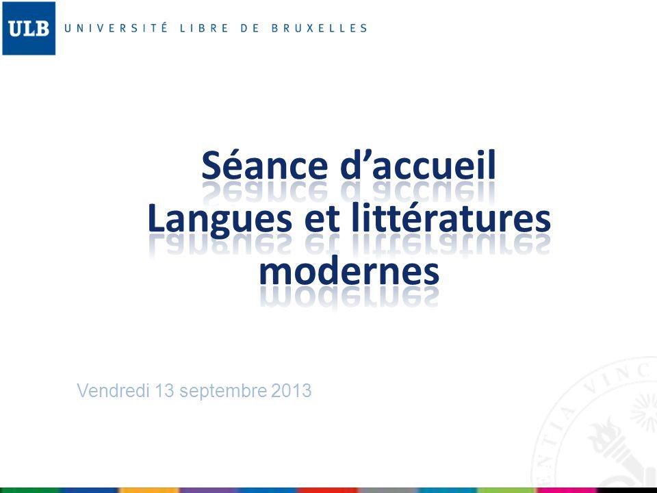 Séance d'accueil Langues et littératures modernes