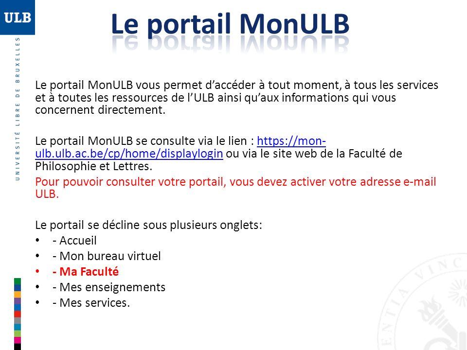 Le portail MonULB
